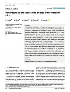New insights on the antibacterial efficacy of ... - Wiley Online Library
