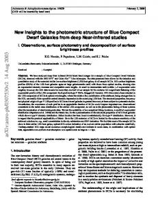 New insights to the photometric structure of Blue Compact Dwarf ...