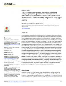 New intraocular pressure measurement method using reflected