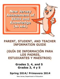 New Jersey Assessment of Skills and Knowledge New Jersey ...