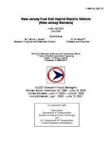 New Jersey Fuel Cell Hybrid Electric Vehicle (New Jersey Genesis)