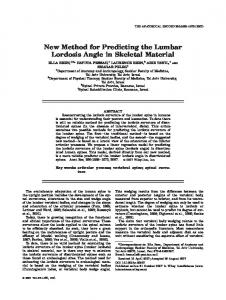 New Method for Predicting the Lumbar Lordosis ... - Wiley Online Library