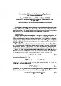New Multiple Solution to The Boussinesq Equation