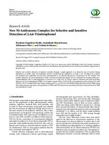 New Ni-Anthracene Complex for Selective and Sensitive Detection of ...