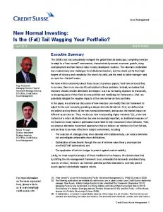 New Normal Investing: Is the (Fat) Tail Wagging Your Portfolio?