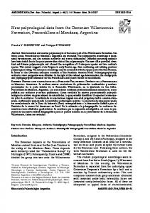 New palynological data from the Devonian ... - Ameghiniana