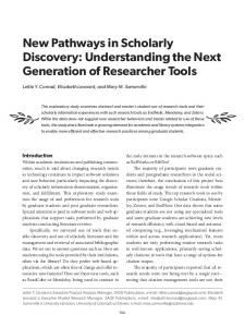 New Pathways in Scholarly Discovery - Semantic Scholar