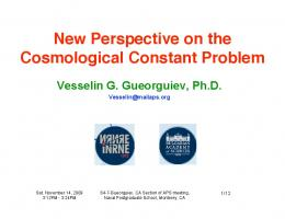 New Perspective on the Cosmological Constant ...