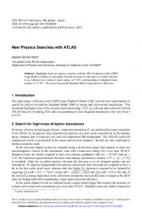 New Physics Searches with ATLAS - EPJ Web of Conferences