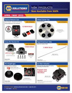 NEW PRODUCTS - NAPA Solutions