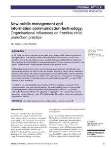 New public management and information communication technology