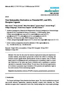 New Quinoxaline Derivatives as Potential MT1 and