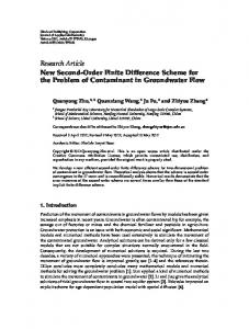 New Second-Order Finite Difference Scheme for the ... - Project Euclid