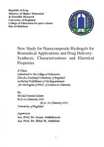 New Study for Nanocomposite Hydrogels for