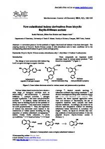 New substituted indene derivatives from bicyclic Baylis-Hillman acetate