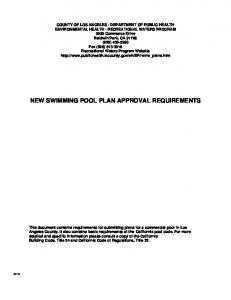 NEW SWIMMING POOL PLAN APPROVAL REQUIREMENTS