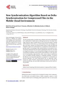 New Synchronization Algorithm Based on Delta Synchronization for ...