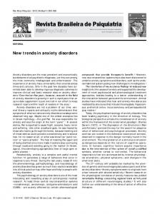 New trends in anxiety disorders