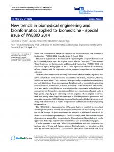 New trends in biomedical engineering and bioinformatics applied to ...