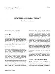 NEW TRENDS IN INSULIN THERAPY