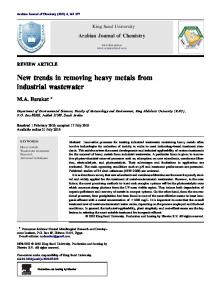 New trends in removing heavy metals from industrial wastewater - Core