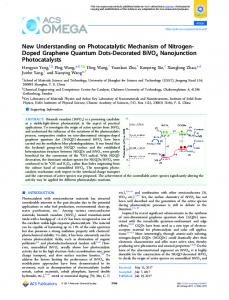 New Understanding on Photocatalytic Mechanism ... - ACS Publications