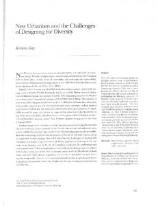 New Urbanism and the Challenges