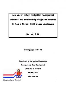 New water policy, irrigation management transfer ... - AgEcon Search