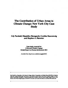 New York City Case Study - UN-Habitat