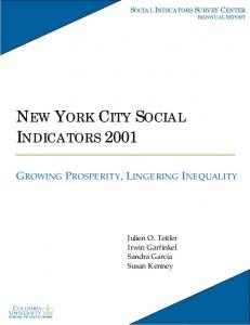 new york city social indicators 2001