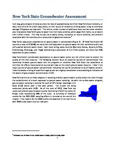 New York State Groundwater Assesment - New York State Department ...