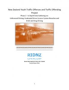 New Zealand Youth Traffic Offences and Traffic Offending Project