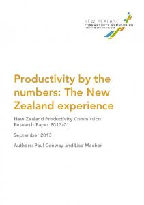 New Zealand's productivity performance - Productivity Commission