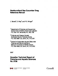 Newfoundland Sea Cucumber Drag Reference Manual ... - CiteSeerX