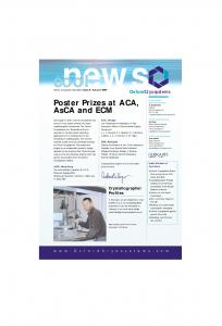 news Poster Prizes at ACA, AsCA and ECM