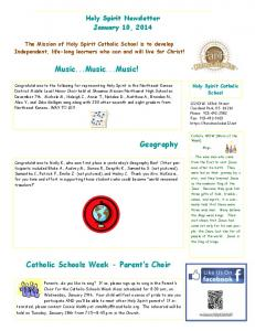 Newsletter - 01-10-14-Website.pdf - Holy Spirit Catholic School