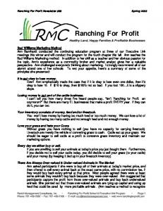 Newsletter 88 04.04.06 - Ranch Management Consultants