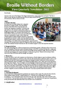 Newsletter APR 2012 - Braille Without Borders