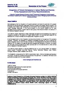 Newsletter of the Project Integration of Female Immigrants in ... - FeMiPol