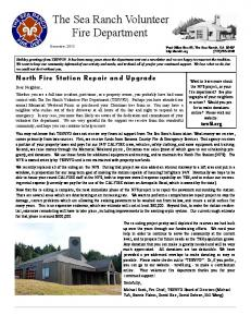 newsletter - The Sea Ranch Volunteer Fire Department