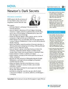 Newton's Dark Secrets - PBS