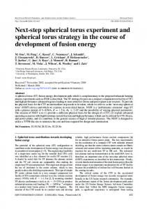 Next-step spherical torus experiment and spherical torus ... - CiteSeerX