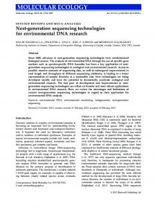 Nextgeneration sequencing technologies for environmental DNA ...