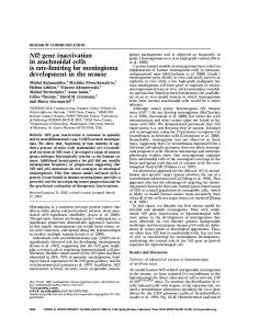 Nf2 gene inactivation in arachnoidal cells is rate-limiting for ...