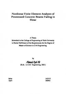 NFE Analysis of Prestressed Concrete Beams Failing