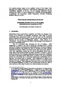 NGO-business collaborations and the law - SSRN papers