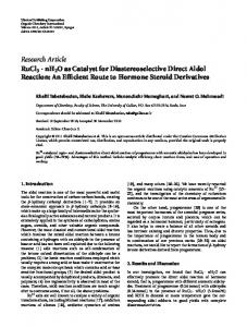 nH2O as Catalyst for Diastereoselective Direct Aldol