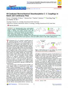 Ni-Catalyzed Electrochemical Decarboxylative C ... - ACS Publications