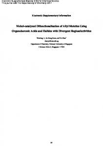 Nickel-catalyzed Difunctionalization of Allyl Moieties Using