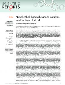 Nickel-cobalt bimetallic anode catalysts for direct ... - Semantic Scholar
